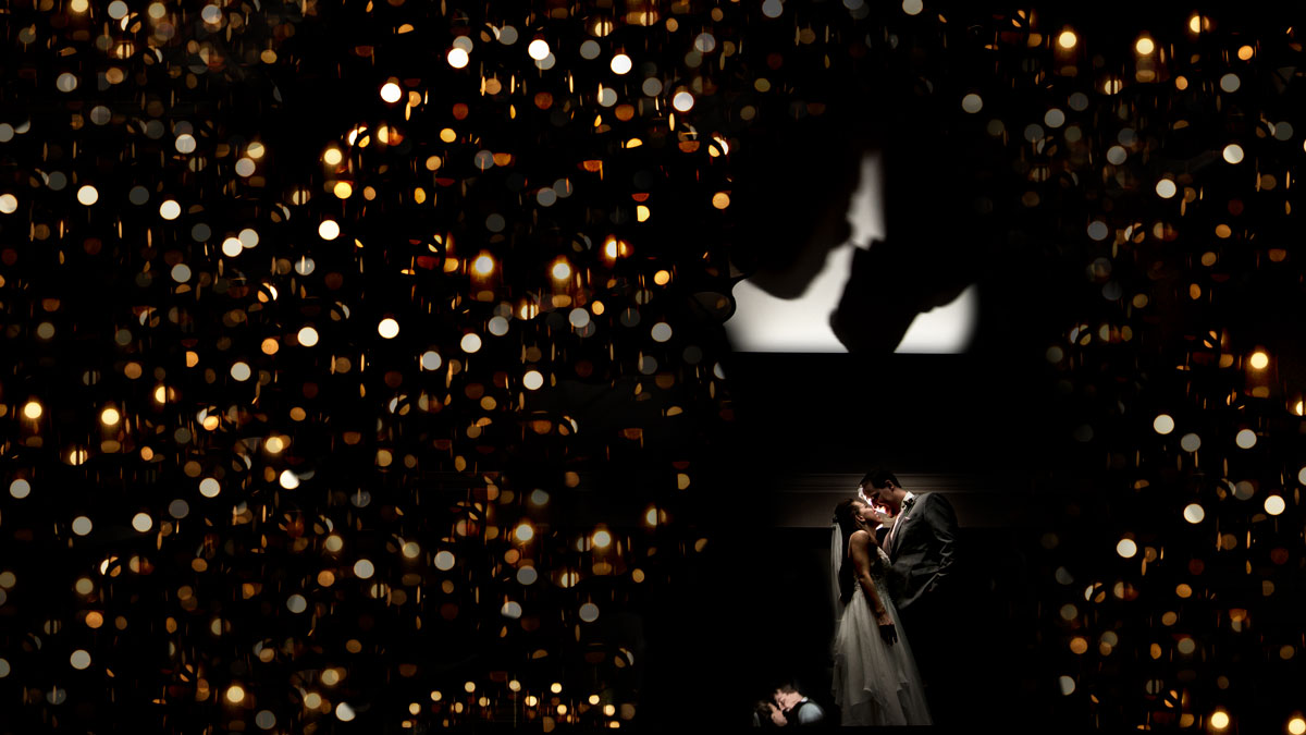 newlyweds portrait in the Pomeroy Hotel in Kananaskis Country